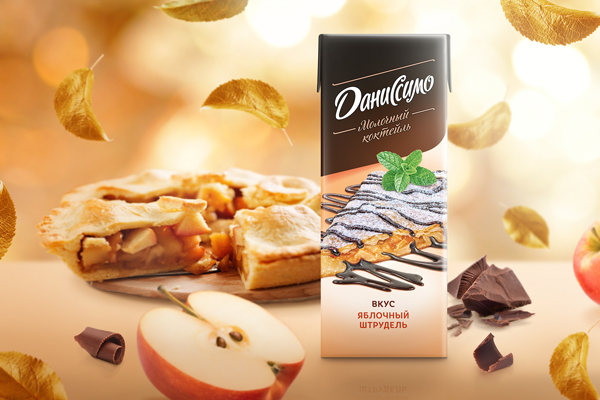 Apple strudel as a symbol of autumn romance: the Danissimo's milkshake line is replenished with a seasonal novelty