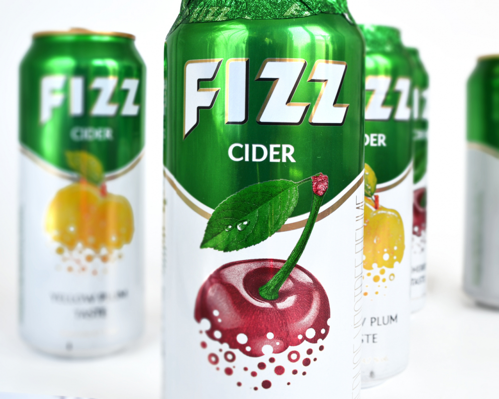 Design for a new aluminum cans of cider FIZZ
