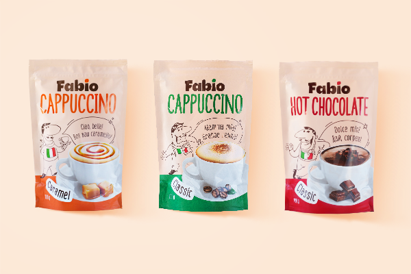 FABIO – a cup of cappuccino or hot chocolate, just like in a coffee shop