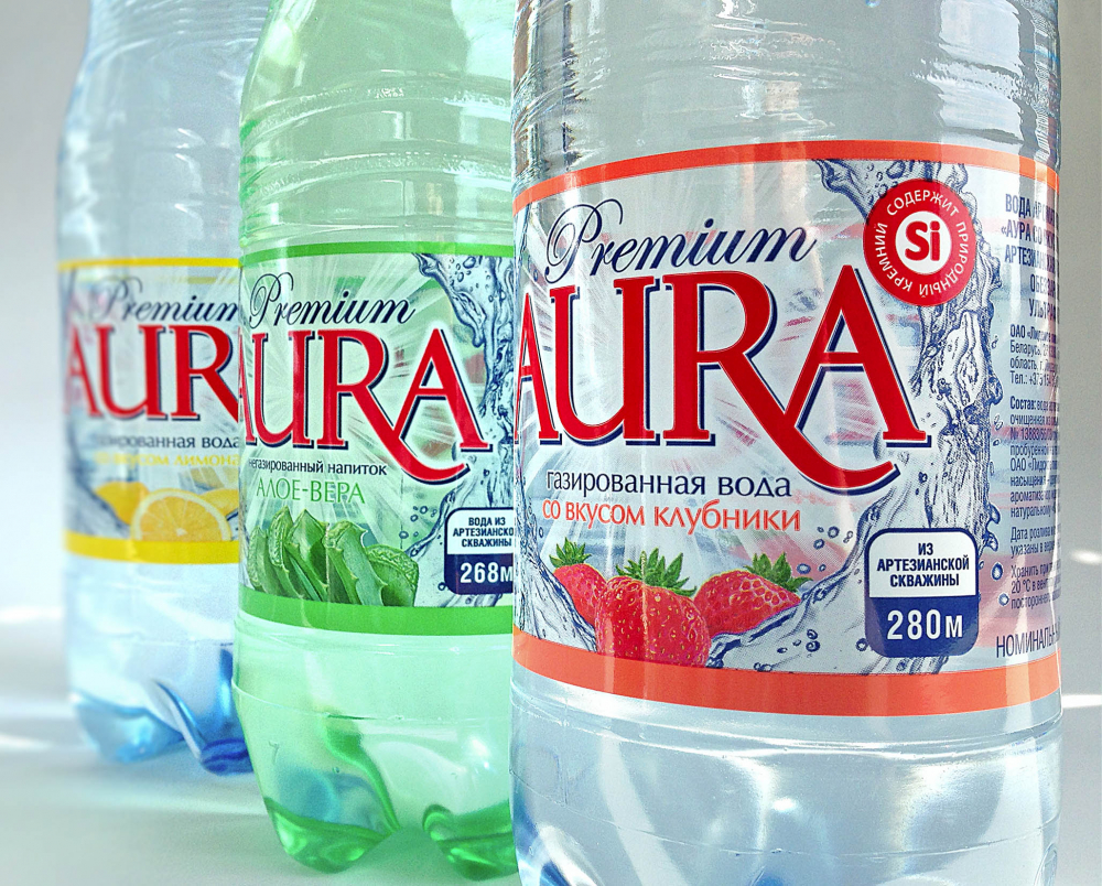 Aura: label design for drinking water