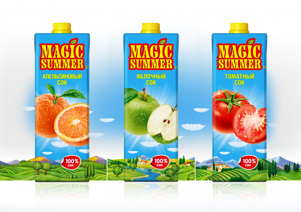 Packaging redesign brand «Magic Summer»